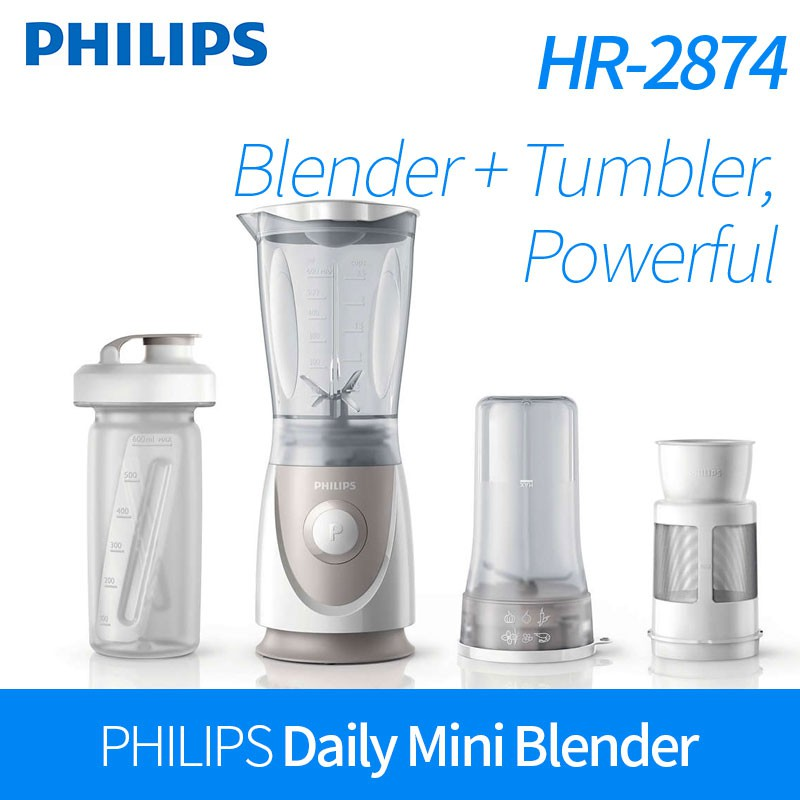 [PHILIPS] Mini Multi Mixer Blender HR2874 juicer smoothie