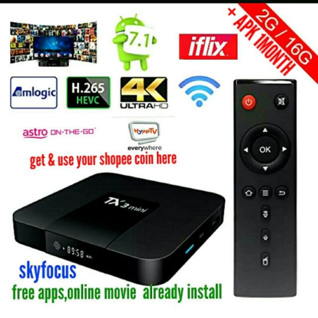 ANDROIDTV BOX TX3 + IPTV SUBSCRIBE