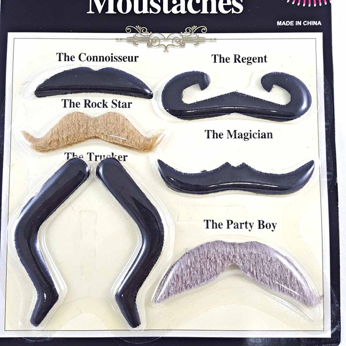 Mustaches and Eye patch Fake Mustache Pirate Set Fancy Dress Self Adhesive