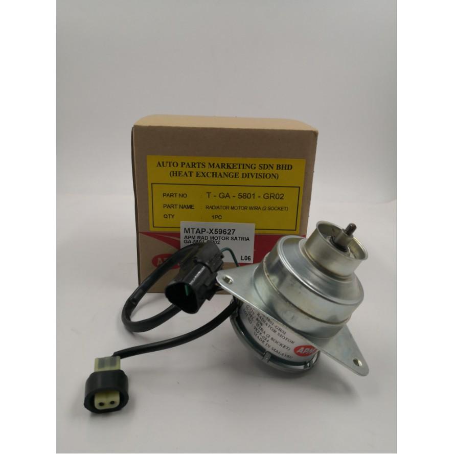MORDAPSATOGA-PROTON SATRIA APM RADIATOR MOTOR ( ORG ) 2 SOCKET ( GA-5801-GR02 )