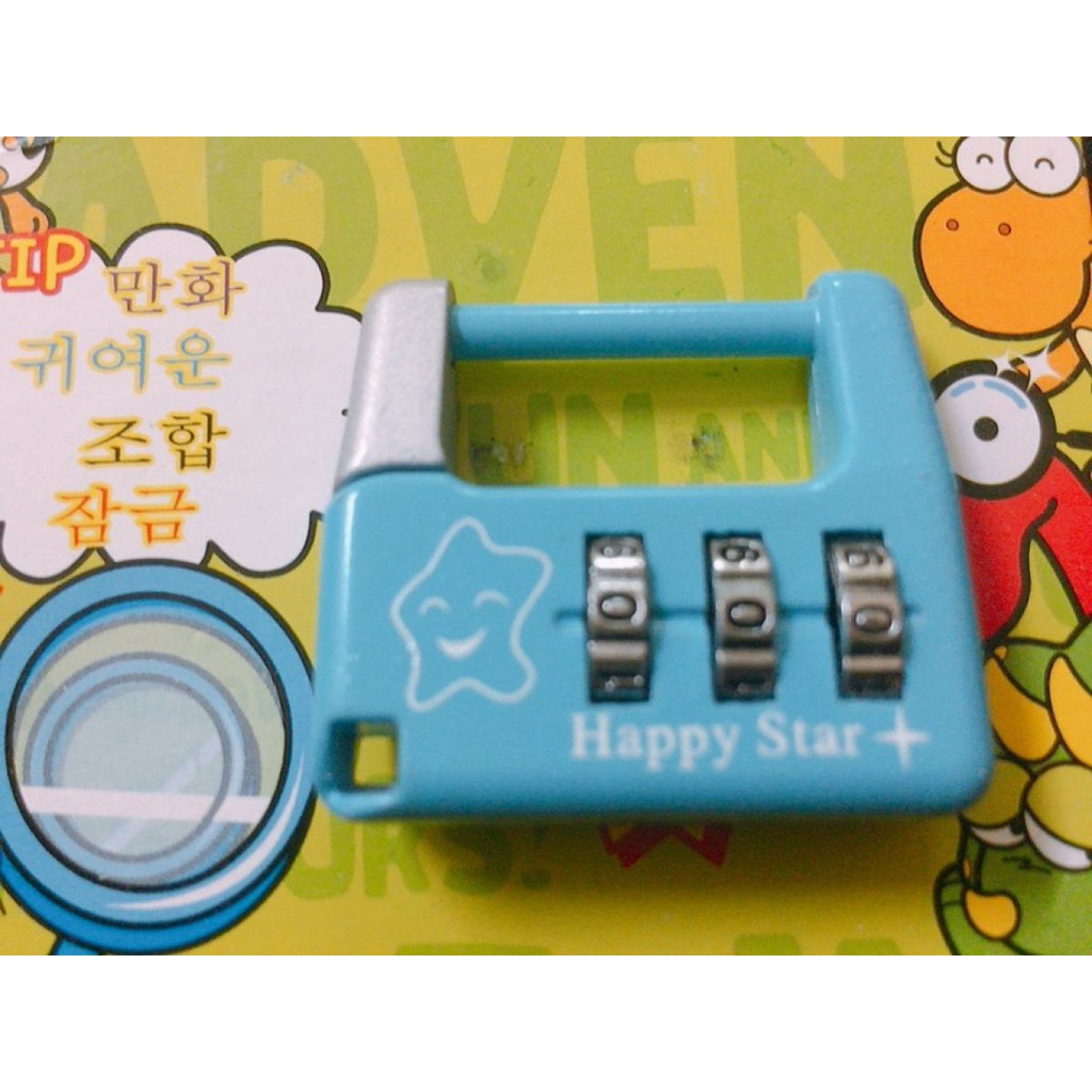 Lovely Cartoon 3 Numbers Alloy Password Traveling Lock Luggage Drawer Cabinet Security Padlock Premium Quality HL106