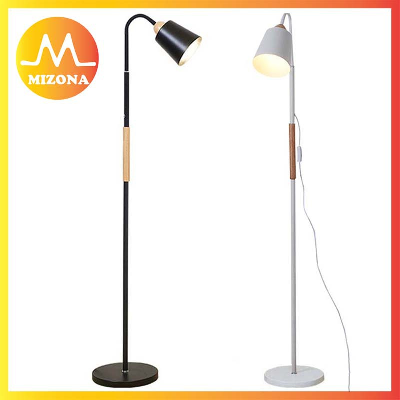 MIZONA Floor Lamp Swing Arm Floor Standing Lamp For Living Room Office  Bedrooms (N257)