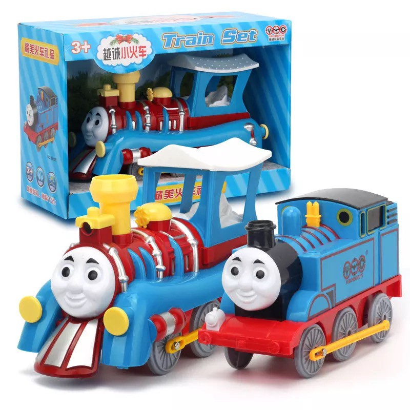 Thomas The Train Christmas.Large Christmas Classic Electric Inertia Thomas Train Toy Collection Best Gift