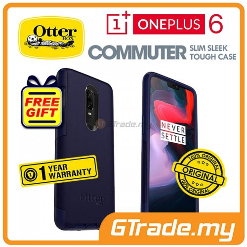 huge selection of 6b4c5 08d24 OTTERBOX Commuter Dual Layer Tough Case | Oneplus One Plus 6 Indigo *Free  Gift