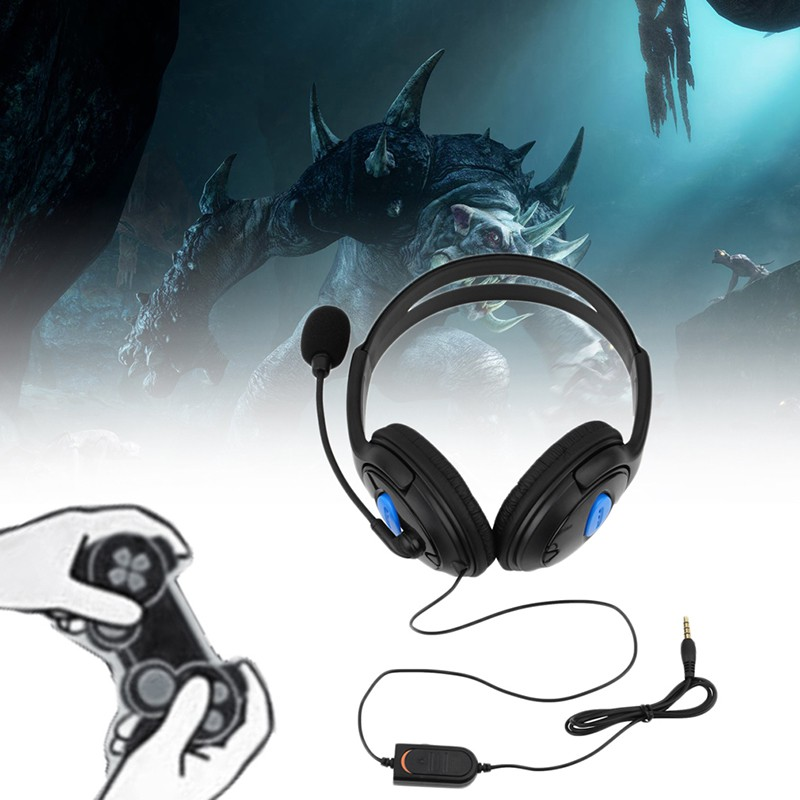 Headphone for PS4 Game Player 3.5mm Wired Gaming Bilateral  หูฟัง  Microph