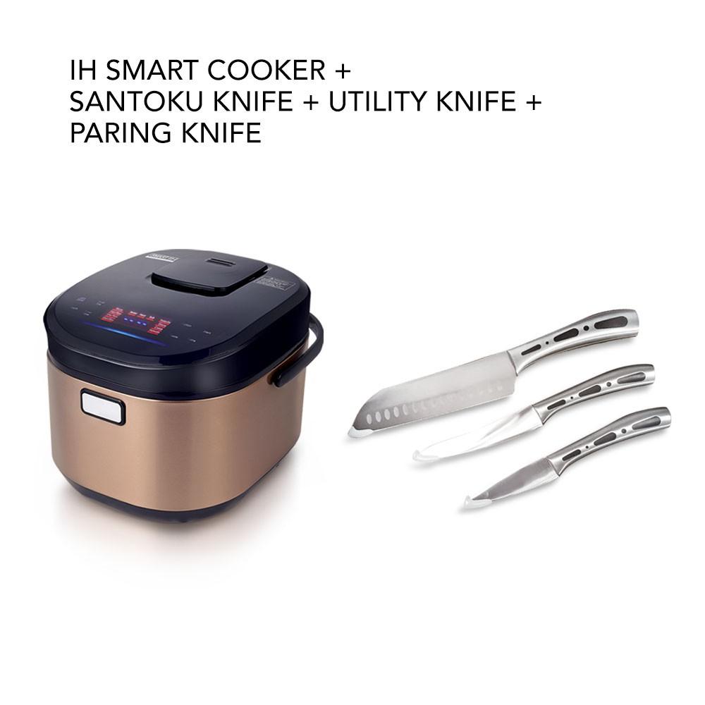 Buffalo IH Smart Cooker (1.8L) FOC SANTOKU Knife/UTILITY Knife/PARING Knife