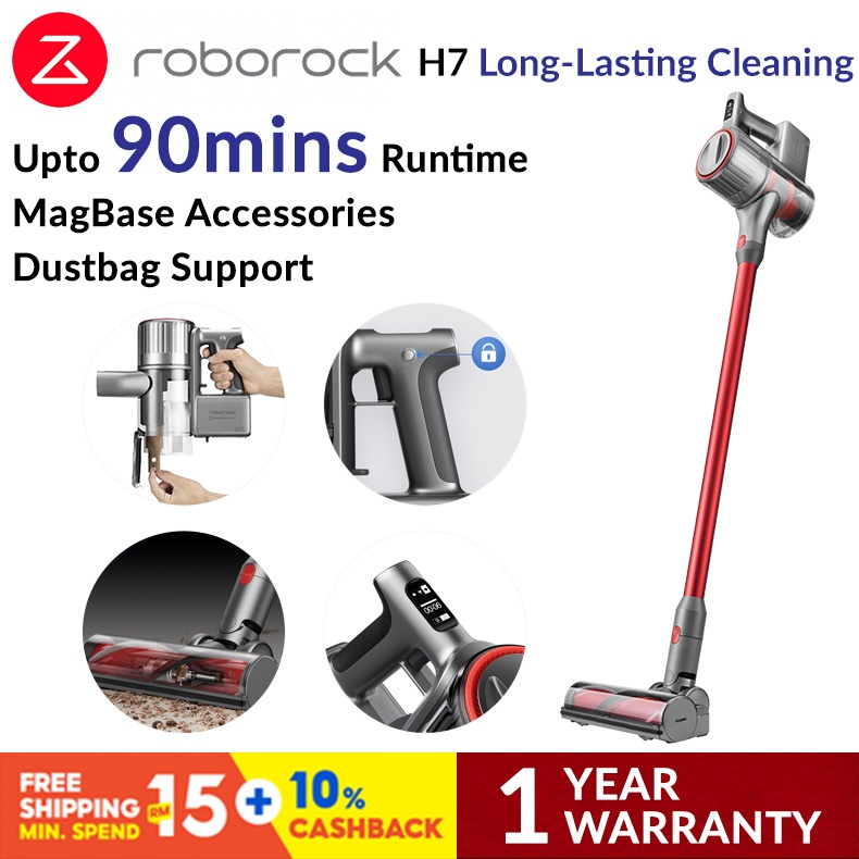 Roborock H7 Handheld Cordless Handstick Cyclone Portable Canister Vacuum Cleaner 12 Months Warranty Dust Mite MagBase