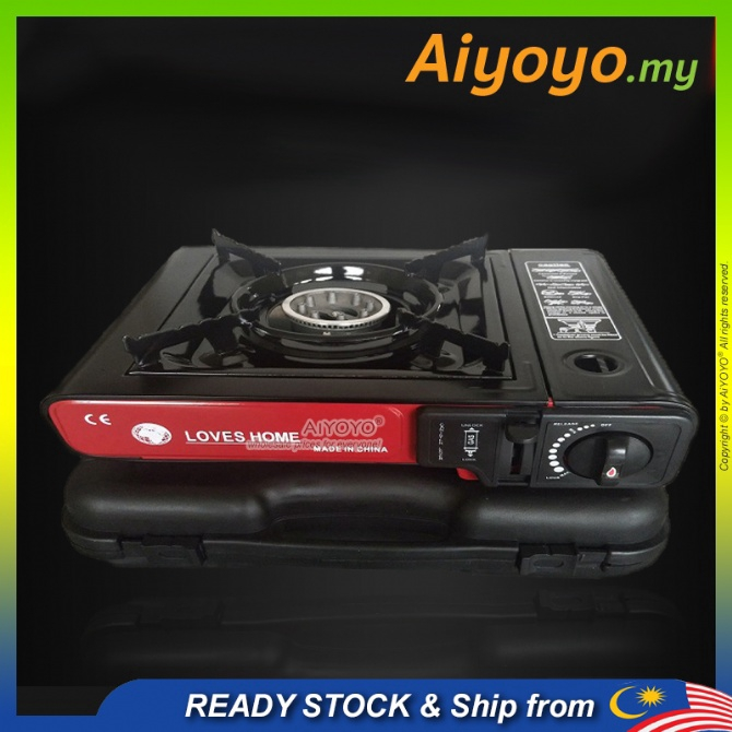 Portable Gas Stove Dapur Gas Steamboat Cooking Burner Butane Gas Camping Hiking Outdoor Picnic Windproof