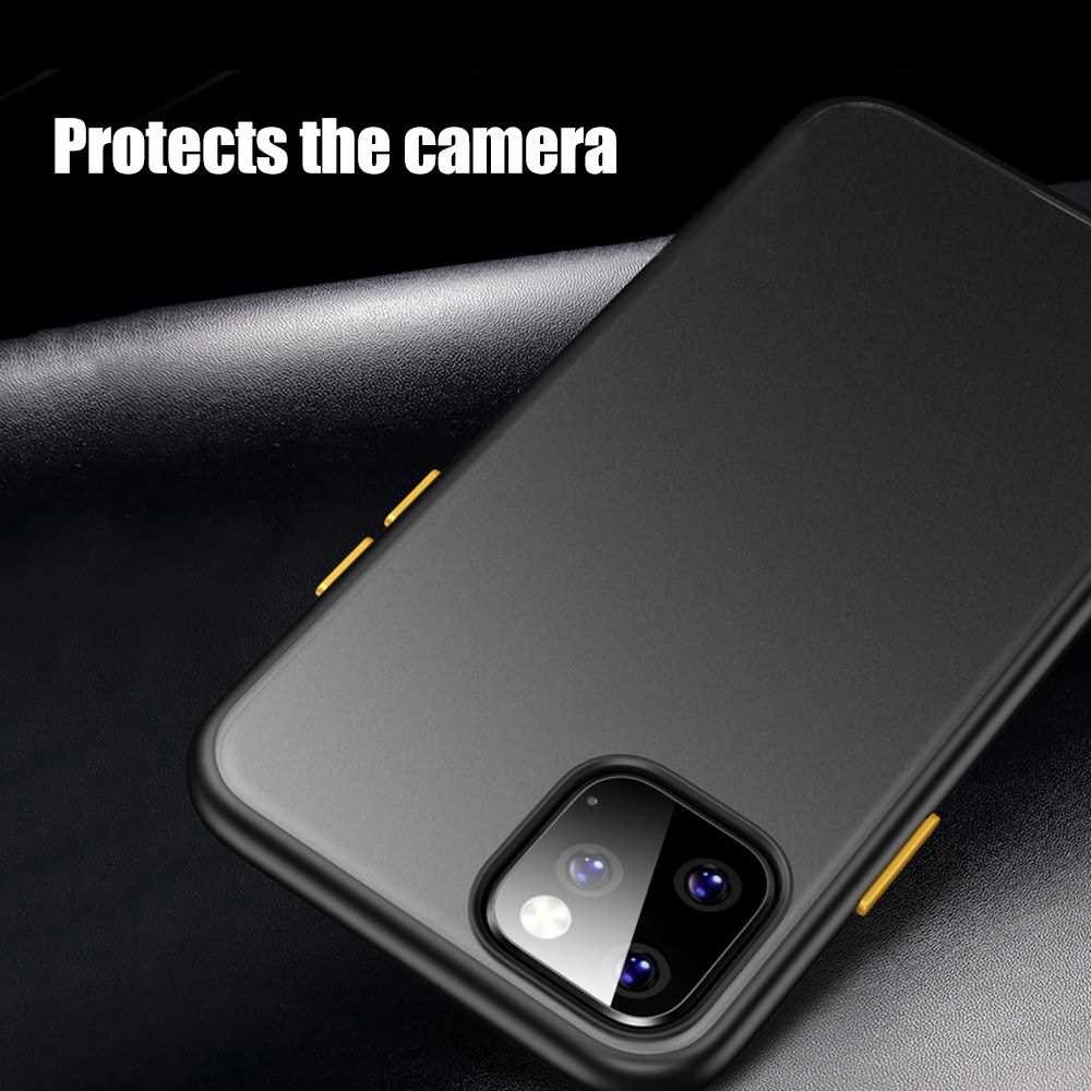 Lightweight Waterproof 5.8 Type Mobile Phone Cover High transparency Natural Color Of Bare Machine With Purple Edge Yel