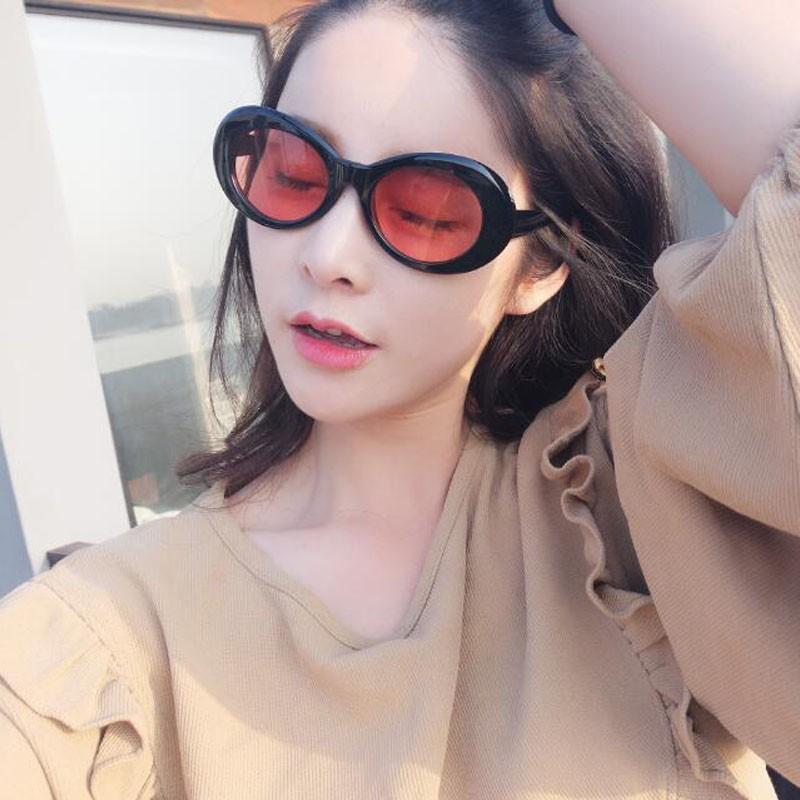 e0bd4d1187 GD yellow goggles Sunglasses color transparent Harajuku alien elliptical  Sunglas