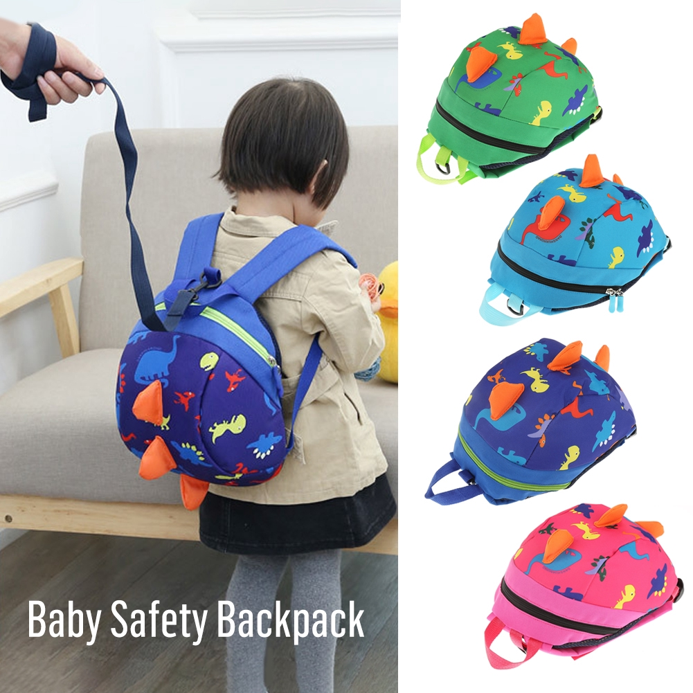 411cef6bba Baby Kids Cartoon Backpack Anti-lost Toddler Walking Safety bag Harness  Strap