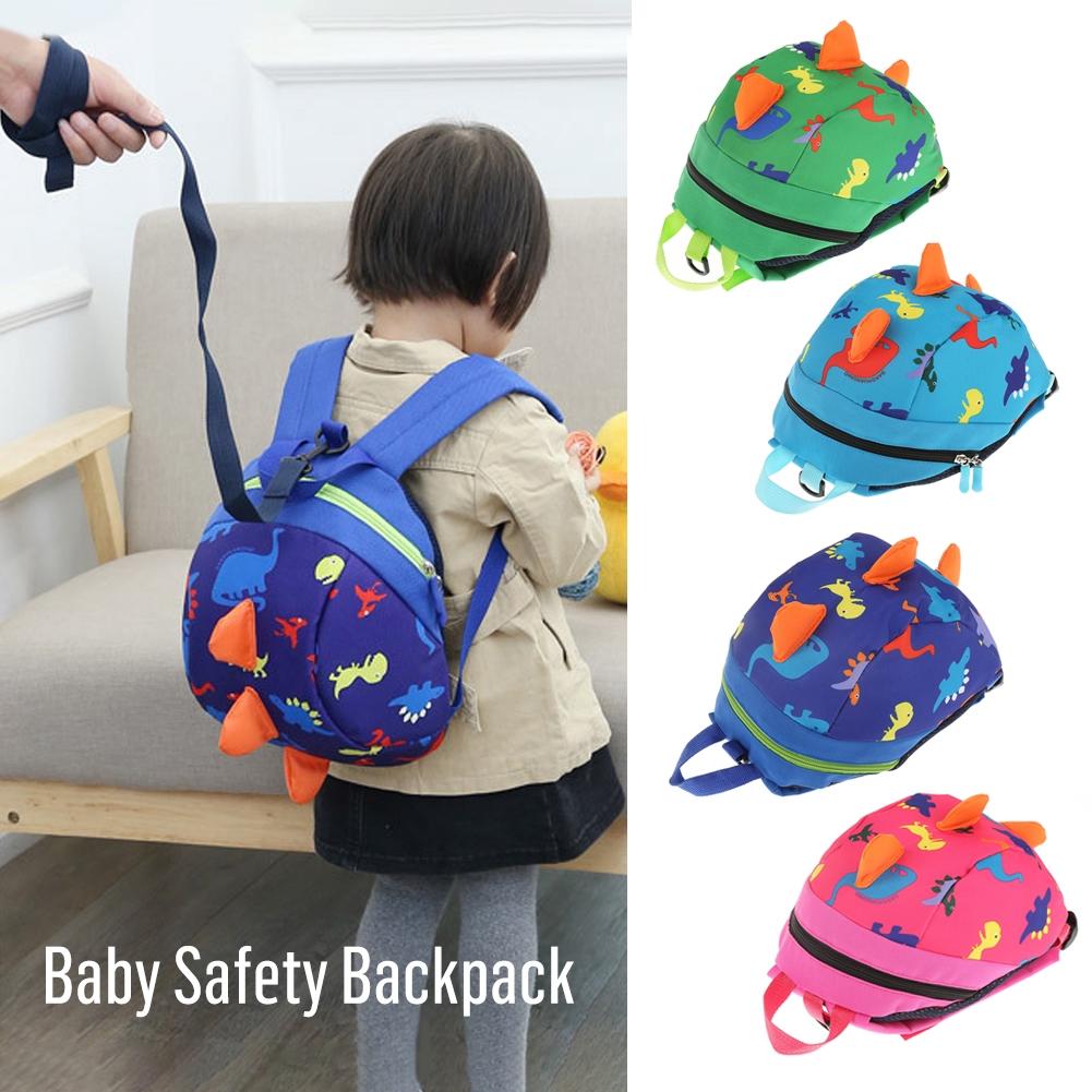 Kids Baby Safety Harness Backpack Leash Toddler Anti-lost Dinosaur Shark Bag Hot