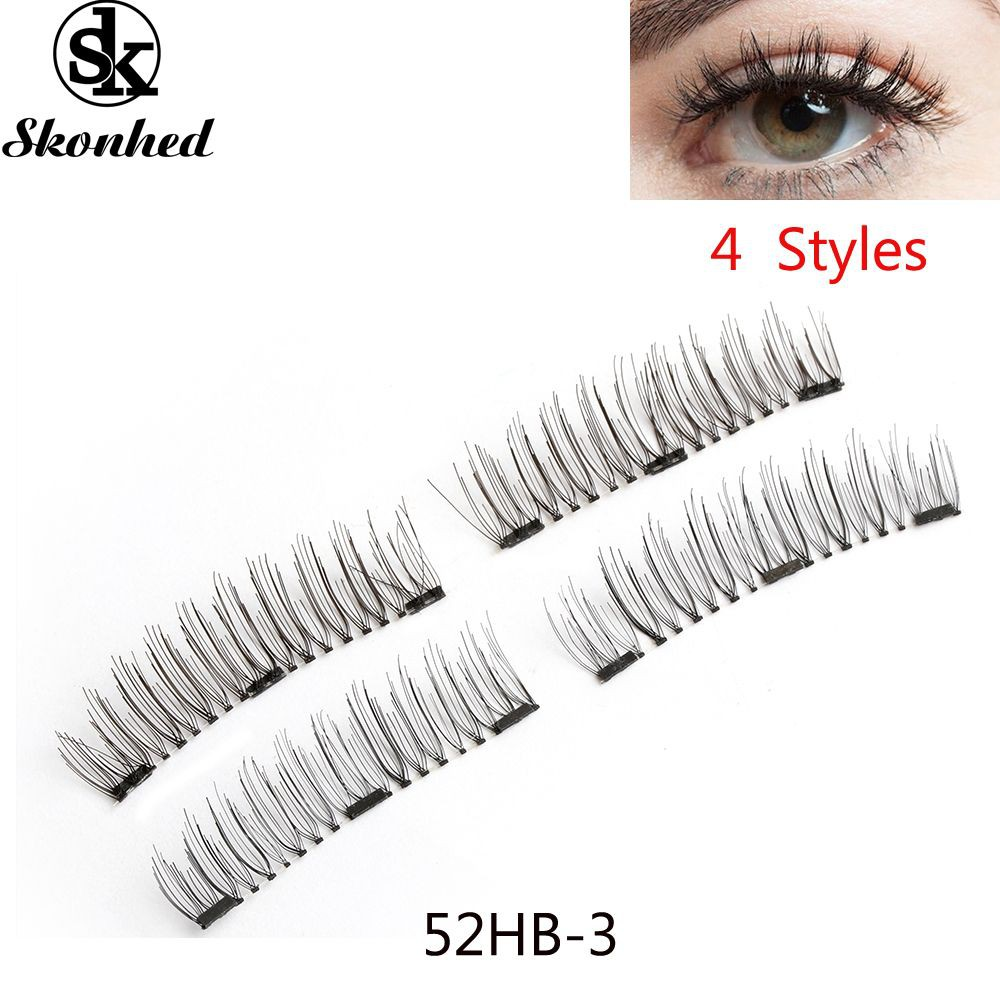 2ff37712307 ProductImage. ProductImage. SK SKONHED 4 Pcs Tools Triple Magnet False  Eyelashes 3D Magnetic Lashes
