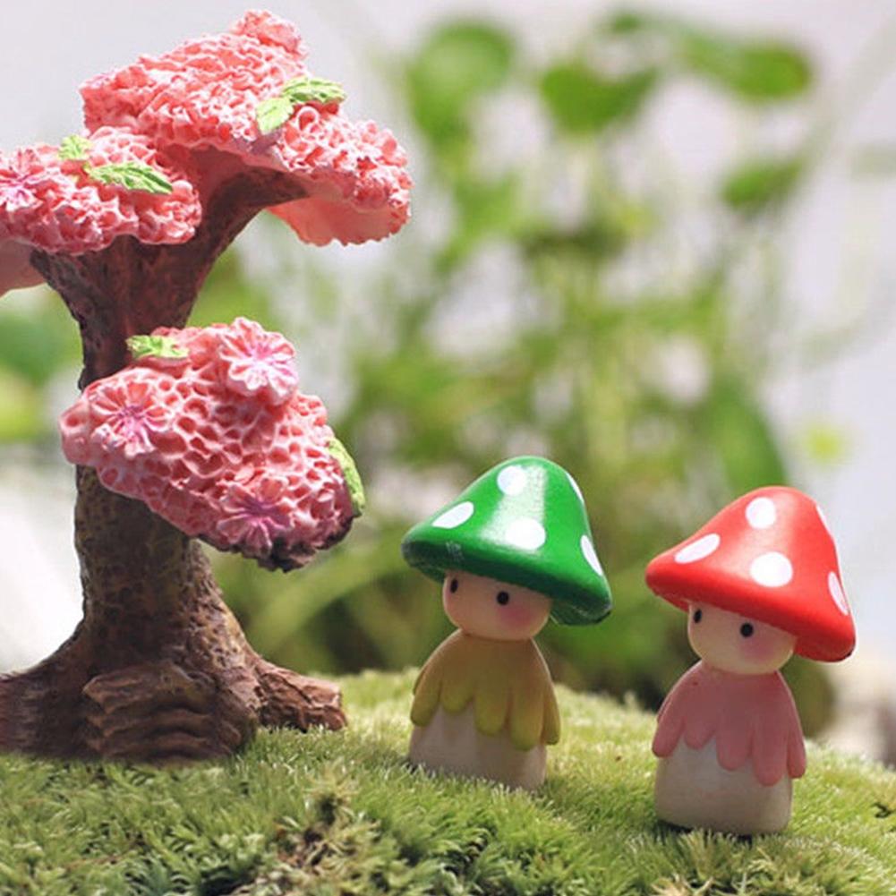 12pcs Mushroom Miniature Garden Landscape Terrarium Figurine Bonsai DIY Craft
