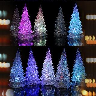 Glowing Colorful Christmas Tree