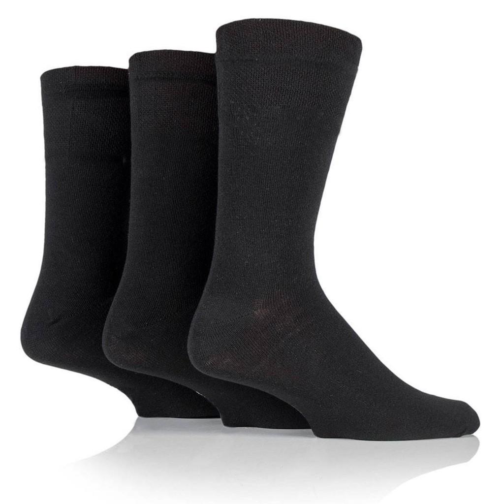 Semlouis Men Quarter Crew Socks - Plain  Dark Colour