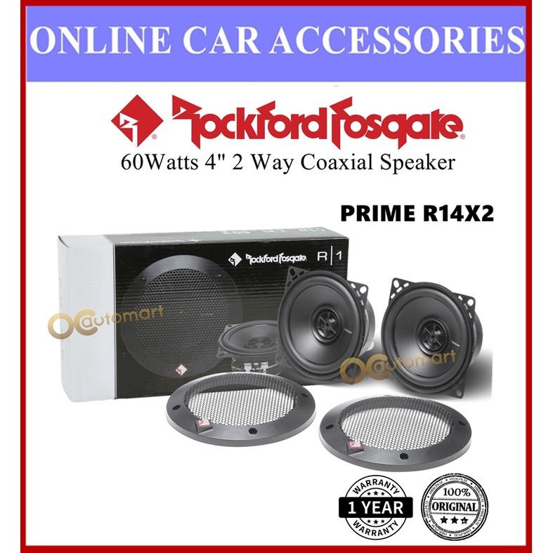 Rockford Fosgate R14X2 Car Speaker 2 Way Coaxial 60 Watts 4 Inch Prime Series Speaker Kereta
