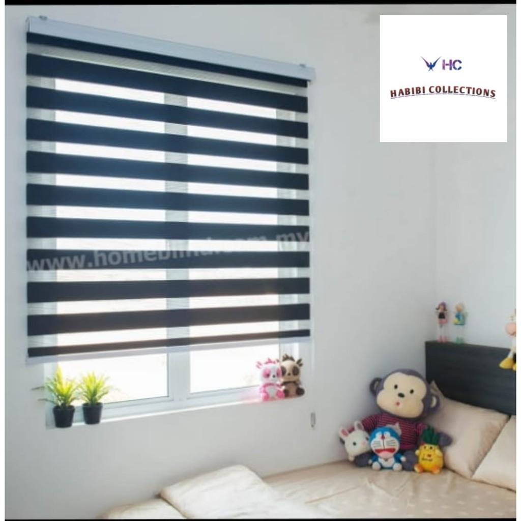 Bidai Tingkap [ Ready Stock ] for Home Decor | Zebra Blind Modern Style | Roller Blinds