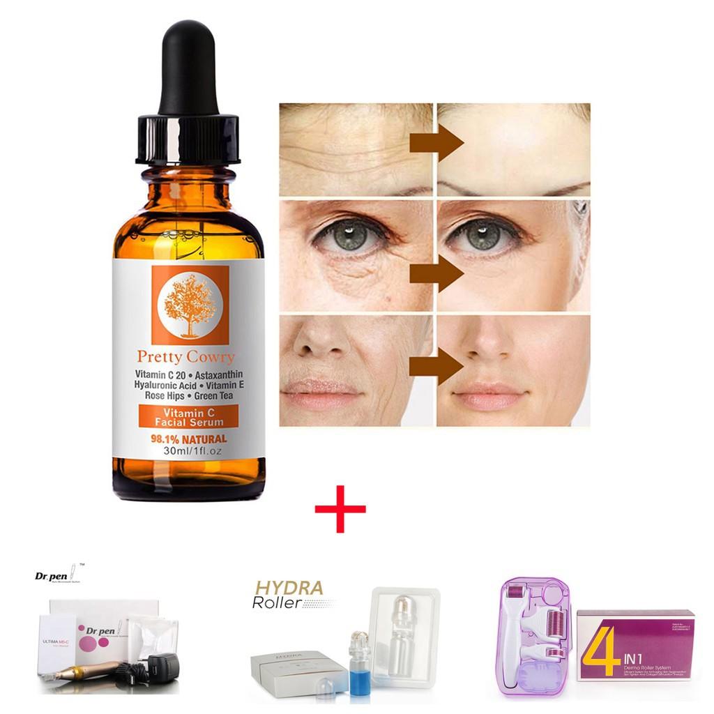 vitamin C Essence hyaluronic acid whitening natural face serum for Dr pen