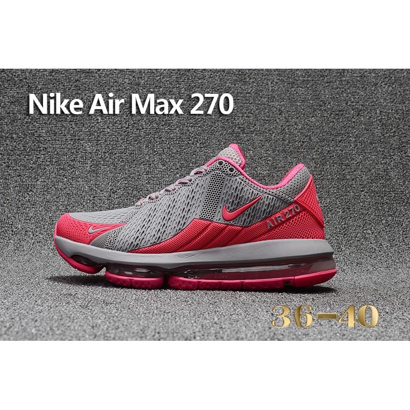 5d12e883674 Nike Air Max Flair 270 Running Shoes Pink Grey Women Sneaker Size 36 ...