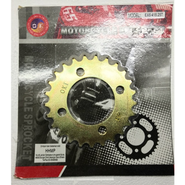 EX5 sprocket racing 415 size from 24-39T
