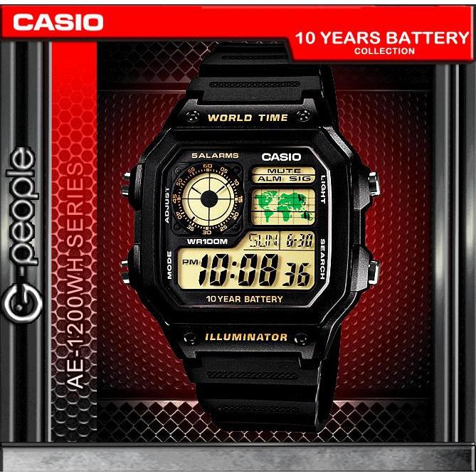 CASIO AE-1200WH-1BV / AE-1200WH-1B / AE-1200H WATCH 100