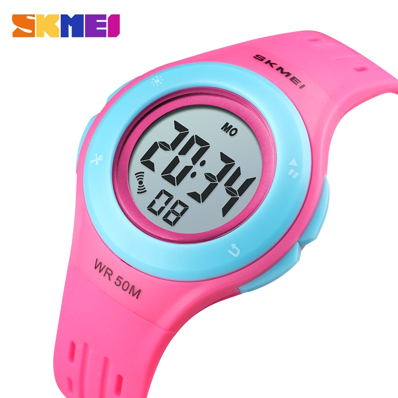 Children's Watches Skmei Colorful Kids Watch Boys Girls Gift Sport Running Exercise Outdoor Children Wristwatch Water Resistant Digital Clock 1460