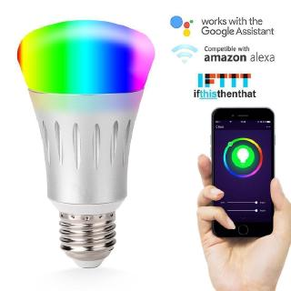 Wifi Smart Bulb Bulbs 7W Led Light Compatible with Alexa Google Home  Assistant IFTTT Smart Control Dimmable RGB