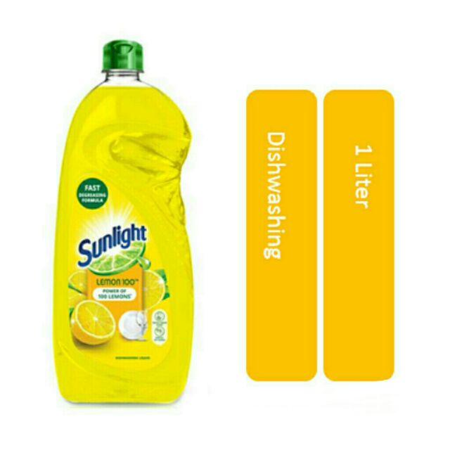Sunlight Dishwash Liquid Lemon (1L ✘ 4)