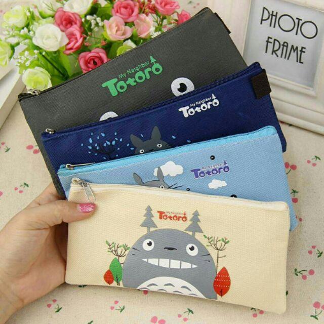 กระเป๋าดินสอ ลาย Totoro , กระเป๋าใส่ดินสอ , กระเป๋าผ้า , Totoro , กระเป๋าดินสอลายกา