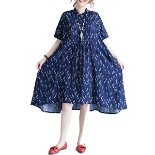 31ad60372af Kanifio Fashion Print Dresses Women Casual Shirt Dress Plus Size Summer  Clothing