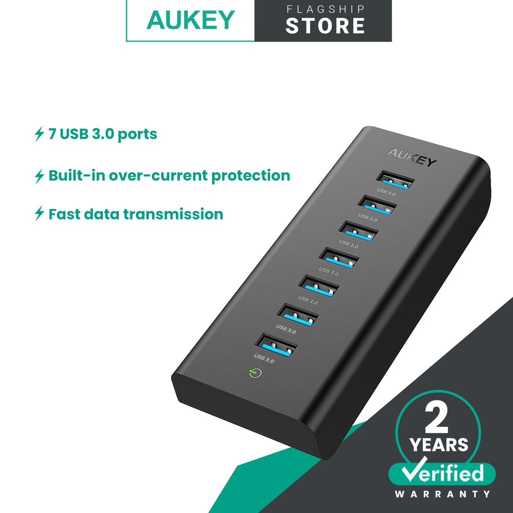 Aukey CB-H3 Powered USB Hub with 7 USB 3.0 Hub