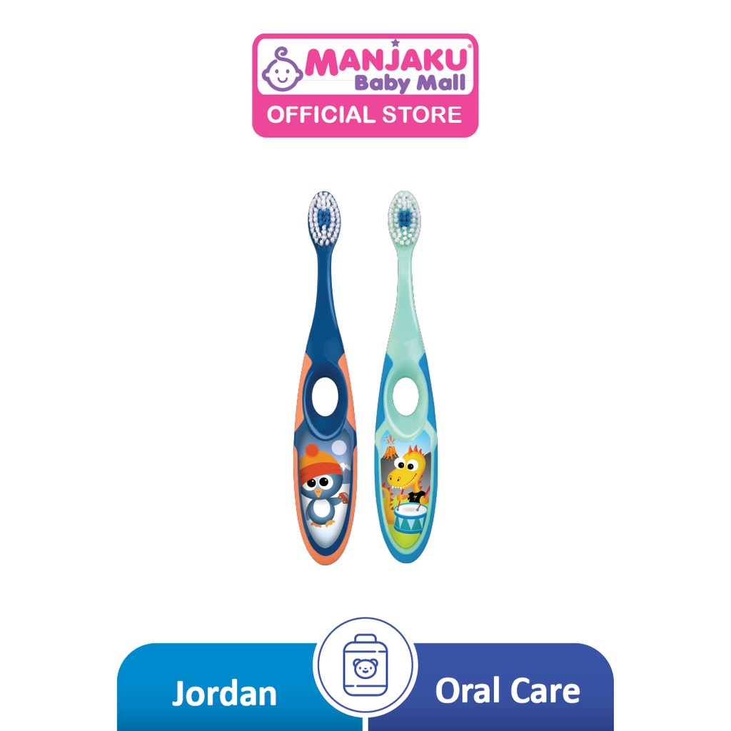 Jordan Kids Step 2 Soft Toothbrush (Age 3-5) [Twin Pack] - Assorted Colour