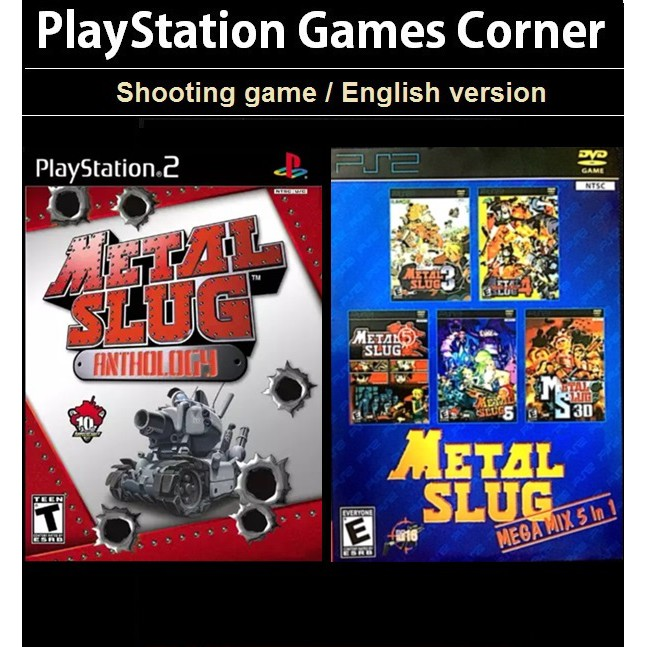PS2 Game Metal Slug Anthology, Metal Slug Mix English version, Shooting Game / PS3 Metal Slug Anthology / Multi Game