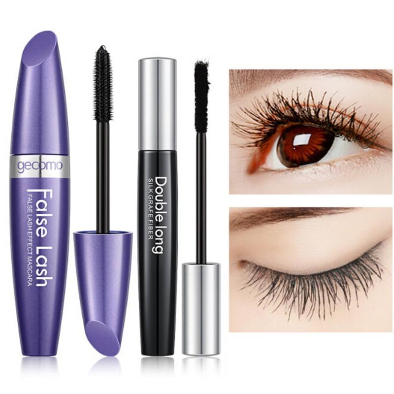 63a036e5306 2pcs False Eyelashes + Mascara 4D Silk Fiber Eyelash Mascara   Shopee  Malaysia