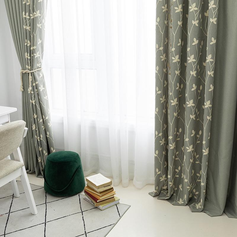 [Splicing] Manufacturer Modern minimalist new polyester cotton printed  fabric curtain fabric Living room bedroom curtain