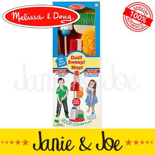 MELISSA & DOUG Let's Play House! Dust! Sweep! Mop! Set