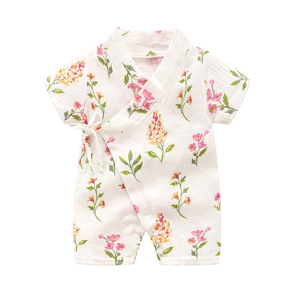 Gonxifacai Infant Toddler Baby Girls Long Sleeve Floral Color Spring Romper Jumpsuit Clothes