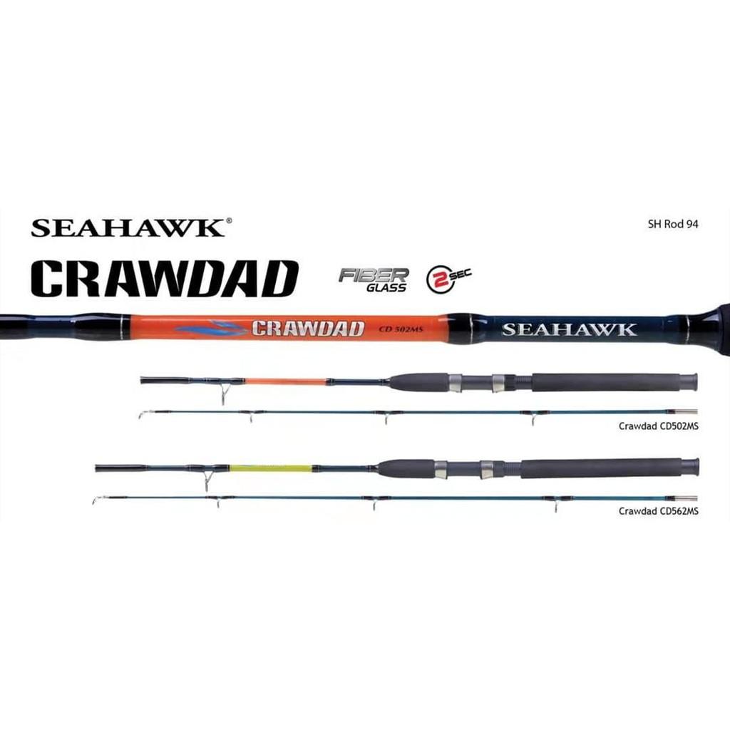 CLEAR STOCK ! Seahawk Crawdad Spinning Rod