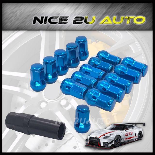 Sport Rim Nut Racing Wheel Lock Nut Iron Besi 16pcs + 1 ⚡READYSTOCK⚡