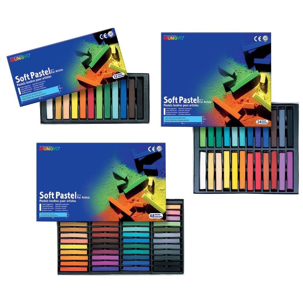 MUNGYO Soft Pastel Full Length 12 /24 /36 /48 Colours Colour Crayon Oil Pastel MP-12 MP-24MP-36 MP-48