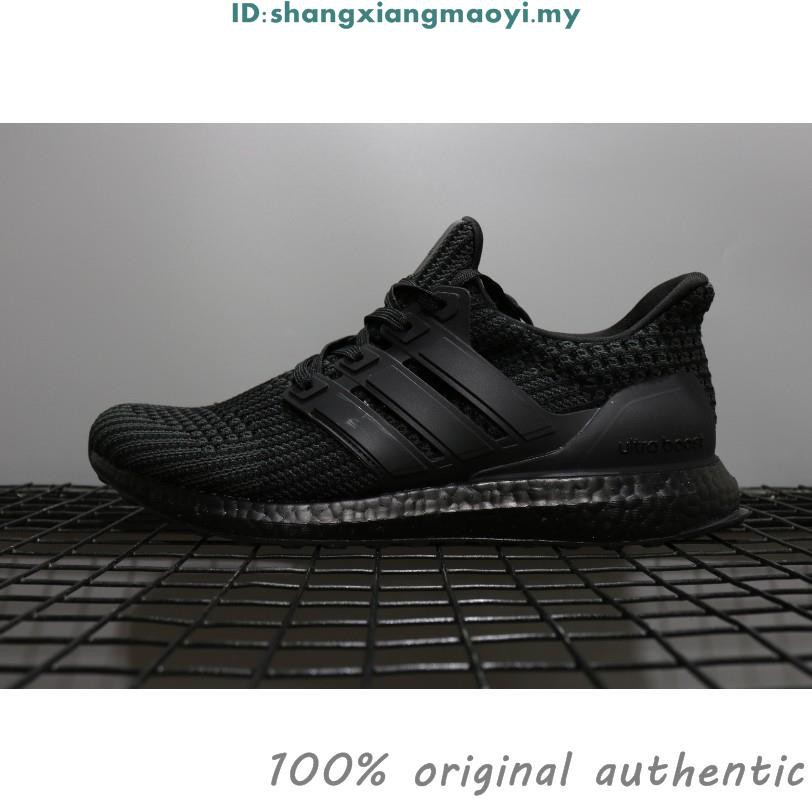 the latest adac0 083be Original ADIDAS Ultra Boost 4.0 all black running shoes ub4.0 sneakers men  women