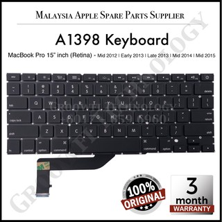 ASHATA Tablet Keyboard Replacement,Portable Compatible Keyboard No Backlight Replacement Keyboard for MacBook Pro Retina 13inch A1502 Late 2013 Mid 2014 Early 2015