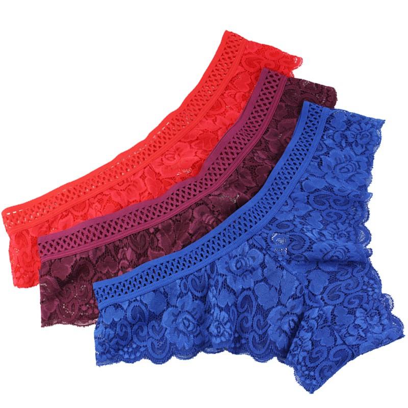 be92260c70e6 L'bellagiovanna Women Sexy Lace G-stiring Briefs Thongs Underwear Lace  Panties I   Shopee Malaysia