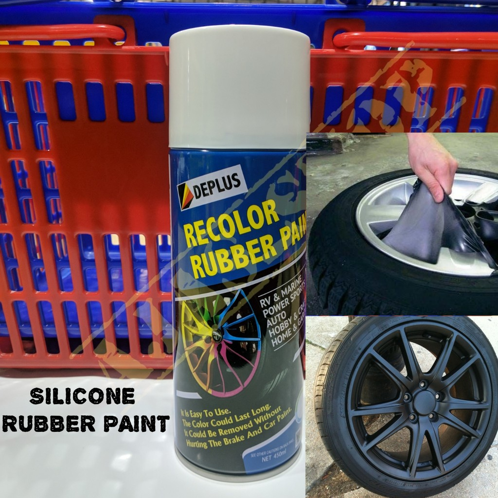 🇲🇾☀️Car Rim Spray Color Plastic Dip Car Rim Silicon Rubber Spray Paint