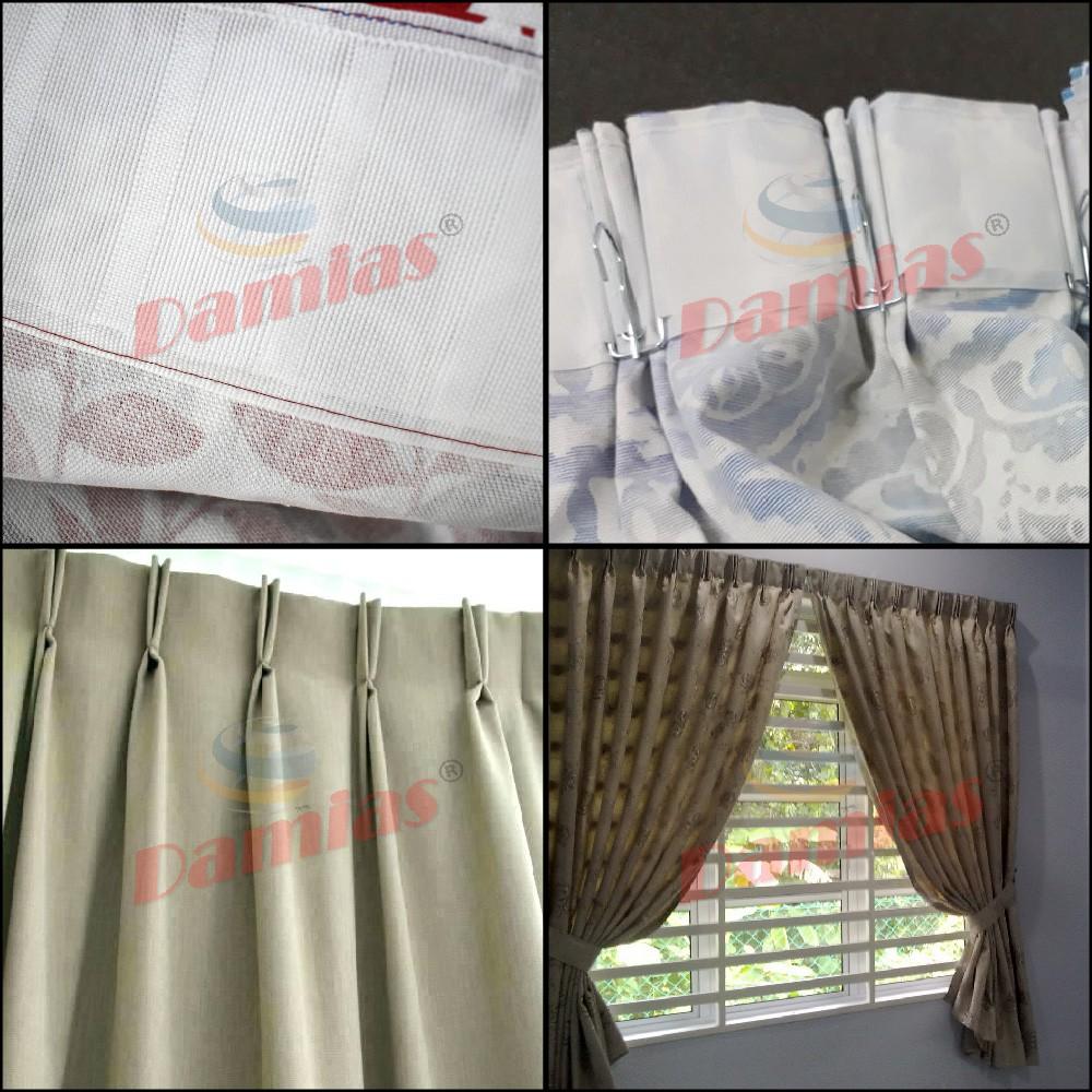 Langsir Tirai Pasang Siap Ready Made Curtain English 2 Layer Tone Shopee Malaysia