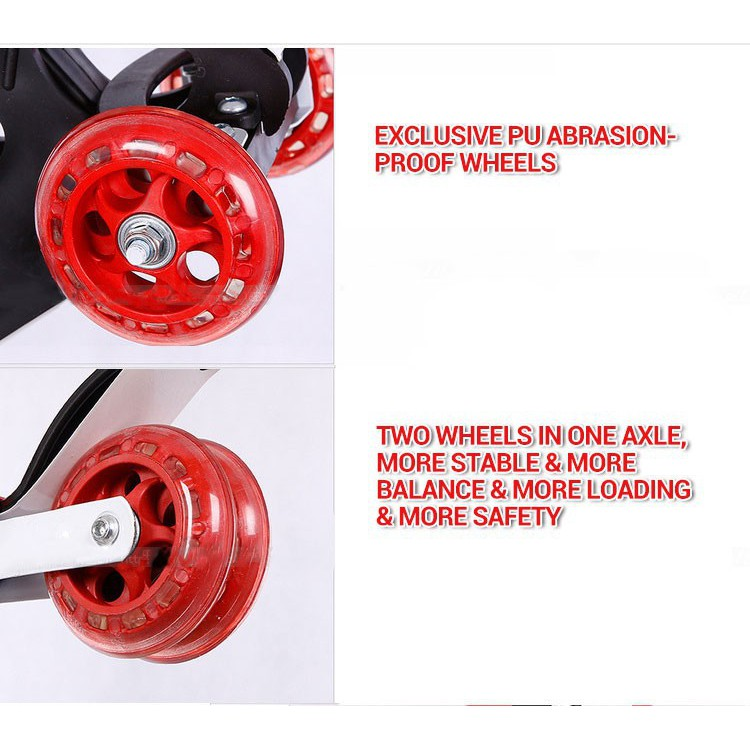 *SHIP 1DAY from MALAYSIA* Quality Foldable 4 LED Wheels Scooter Kids Children Toy Outdoor