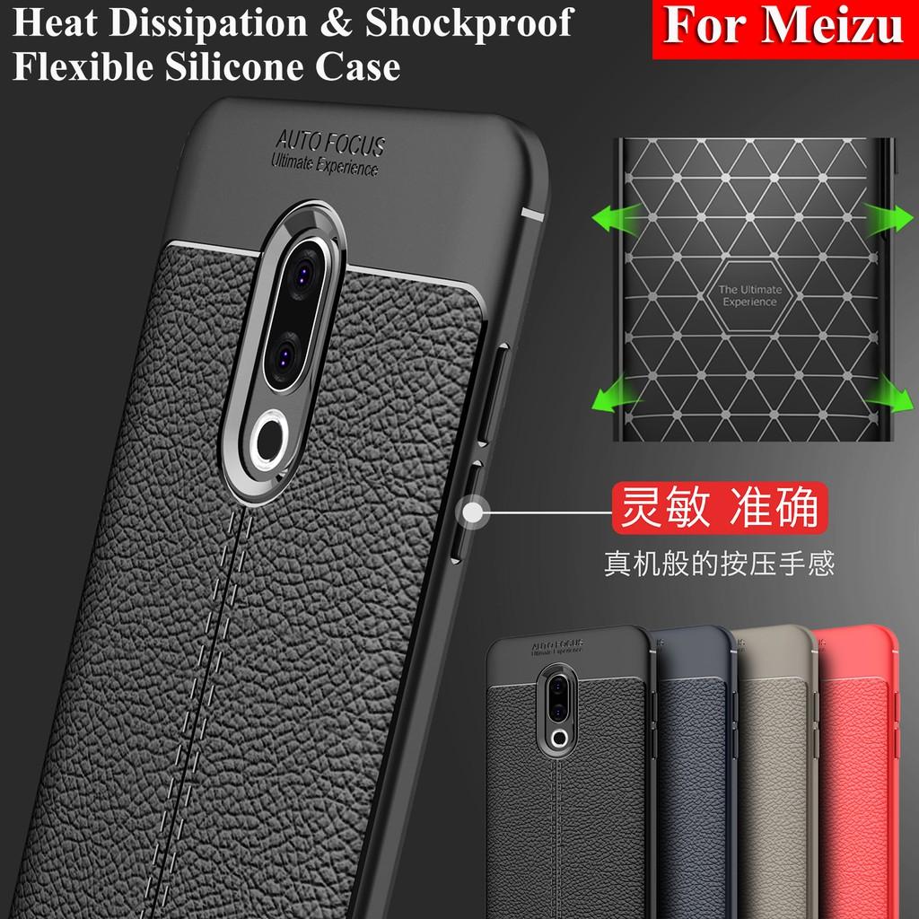 Case Meizu 16 15 Plus Lite M15 E3 M6s Meizu 16th Leather Design Thin Back  Cover