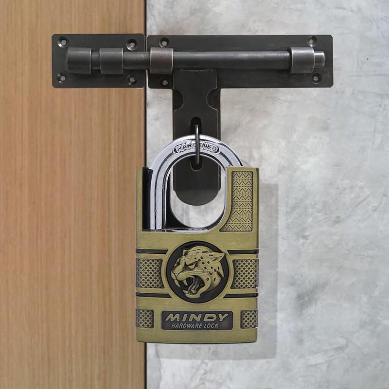 Mindy Lock Heavy Duty Shrouded Hardened Keyed Padlock Anti-Theft Tiger Logo 40mm