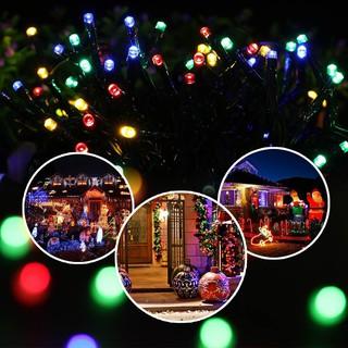 Solar Powered Christmas Lights.Solar Powered 100 Leds String Fairy Light Outdoor Christmas Wedding Party Mnkg